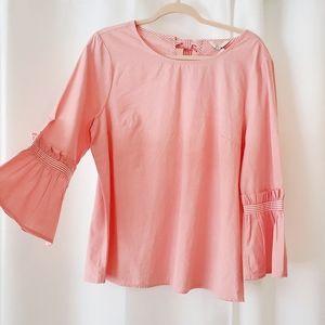 crown & ivy • half bell sleeve blouse